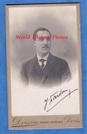 Photo CDV De 1909 - Portrait & Autographe Du Basco Béarnais J. DARDAN ? à Son Ami Jean WARTENWEILER - Poème Au Verso - Photos