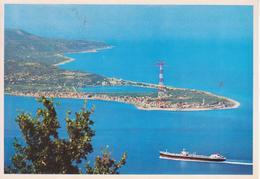 MESSINA - VEDUTA DELLO STRETTO CON TRAGHETTO - VIAGGIATA 1990 - Messina