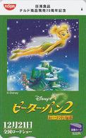 Carte Prépayée Japon - DISNEY - PETER PAN ** FEE CLOCHETTE ** TINKERBELL - Japan Prepaid Movie Tosho Card - Disney