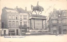 OSTENDE - Statue Léopold Ier - Oostende