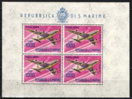 SAN MARINO - 1964 - QUADRIREATTORE BOEING 747 - FOGLIETTO - SOUVENIR SHEET - MNH - Posta Aerea