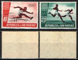 SAN MARINO - 1955 - 1^ MOSTRA INTERNAZIONALE DEL FRANCOBOLLO OLIMPICO - MNH - Posta Aerea