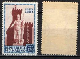 SAN MARINO - 1954 - STATUA DELLA LIBERTA' - MNH - Posta Aerea