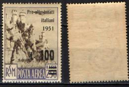 SAN MARINO - 1951 - PRO VITTIME DELL'ALLUVIONE IN ITALIA - MNH - Posta Aerea