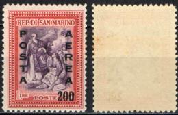 SAN MARINO - 1948 - ALBERONIANA CON SOVRASTAMPA - OVERPRINTED - MACCHIE - MNH - Posta Aerea