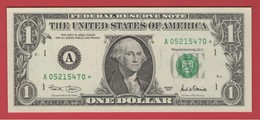 2001 STAR NOTE $1 Dollar Bill, BOSTON, Crisp, Uncirculated - Federal Reserve (1928-...)