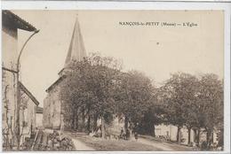 55 NANCOIS-LE-PETIT . L'église Animée , Tas De Bois , Clocher , édit : Sans , Années 30 , état Bien - France