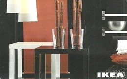 IKEA * FURNITURE STORE * SWEDEN * SWEDISH * LAMP * TABLE * GLASS * BOWL * Ikea 2009 10 Ch C * Switzerland - Cartes Cadeaux