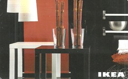 IKEA * FURNITURE STORE * SWEDEN * SWEDISH * LAMP * TABLE * GLASS * BOWL * Ikea 2009 10 Fr C * France - Gift Cards