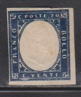 SARDINIA Scott # 12 Mint Heavy Hinge - Paper Hinge Remnant - Sardegna