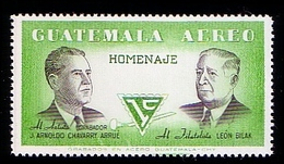 Guatemala 1987 Homenaje, Politician Arrue, Bilak Mint MHN** W 866 - Guatemala