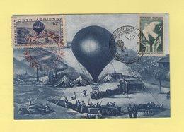 Commemoration Du Premier Service Postal Arien - Vignette - Ballon Monte - Aerostier - 1921-1960: Modern Period