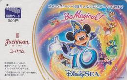 Carte Prépayée Japon - DISNEY SEA 10 YEARS - MICKEY ** BE MAGICAL ** - Japan Prepaid Movie Tosho Card - Disney