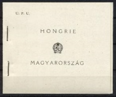 Hungary, 1949, UPU 75th Anniversary, United Nations, Booklet, Scratched Pane, MNH Perforated Inbetween, Michel 1056-1058 - Hongrie
