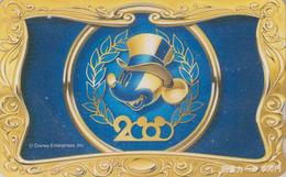 Carte Prépayée Japon - DISNEY - MICKEY ** YEAR 2000 ** - Japan Prepaid Movie Tosho Card - Disney