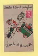 Sauvez L'enfance - 1948 - Semaine Nationale De L Enfance - Vignette Au Dos - Marianne De Gandon - Le Coche Et La Mouche - Marcophilie (Lettres)
