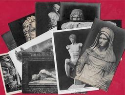 CPA Art Sculpture (Lot De Dix) ROMA Rome ITALIA Italie - Roma (Rom)