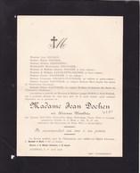 AVERNAS Adrienne WAUTHIER épouse Jean DOCHEN 23 Ans 1908 Familles DEGENEFFE, NIHOUL - Décès