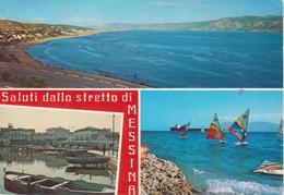 MESSINA - VEDUTINE CON BARCHE - Messina