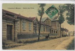55 TRIAUCOURT . L'école De Filles En Couleur , édit : Goulet-Turpin Reims  , écrite  , état Extra - France