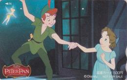 Carte Prépayée Japon - DISNEY Série PETER PAN & Tinkerbell - Film Cinema Movie Japan Prepaid Tosho Card / NOT FOR SALE 8 - Disney