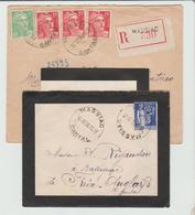 """CANTAL : """" MASSIAC """" Horoplan / LSC + LAC Rec De 1938 & 1950 TB - 1921-1960: Période Moderne"""