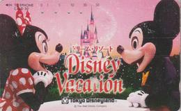 Télécarte Japon / 110-011 - DISNEY - TOKYO DISNEYLAND - VACATION ** Mickey & Minnie ** - Japan Phonecard - Disney