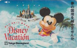 Télécarte Japon / 110-011 - DISNEY - TOKYO DISNEYLAND - VACATION ** Mickey Mouse ** - Japan Phonecard - Disney