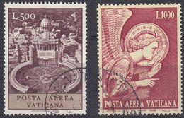 VATICANO - 1967/1968 - Due Valori Usati: Yvert Posta Aerea 52 E 53, Come Da Immagine. - Posta Aerea