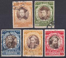 VATICANO - 1946 - Lotto Composto Da Cinque Valori Usati: Yvert 130, 134, 135, 136 E 137, Come Da Immagine. - Vaticano