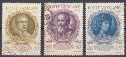 VATICANO - 1943 - Lotto Tre Valori Usati: Yvert 106/108, Come Da Immagine. - Vaticano