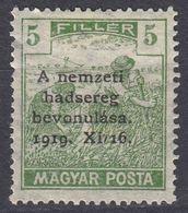 UNGHERIA - 1919 - Yvert 263A Nuovo MH. - Ungheria