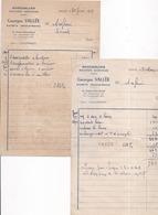 77 SAINTS Maréchalerie,Machines Agricoles Georges VALLEE Lot De 2 .Factures De 1957 Et 1959 - France