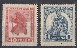 UNGHERIA - 1920 - Lotto Di 2 Valori Nuovi MH: Yvert 284 E 286, Come Da Immagine. - Ungheria