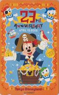 Télécarte NEUVE Japon / MF-1002451 - DISNEY - DISNEYLAND 23th ANNIVERSARY ** PARROT ** - Japan MINT Phonecard - Disney
