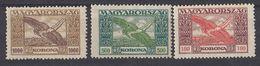 UNGHERIA - 1924 -  Lotto Di Tre Valori Nuovi (MH E MNH) Di Posta Aerea: Yvert 6/8. - Posta Aerea