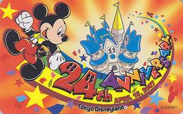 Télécarte NEUVE Japon / MF-1002891 - DISNEY - DISNEYLAND 24th ANNIVERSARY ** MICKEY ** - Japan MINT Phonecard - Disney