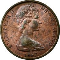 Monnaie, Nouvelle-Zélande, Elizabeth II, 2 Cents, 1967, TB+, Bronze, KM:32.1 - Nouvelle-Zélande