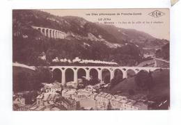39 MOREZ Le Bas De La Ville Et Les 4 Viaducs Train A Vapeur - Morez