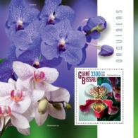 Guinea Bissau 2014  Orchids Flowers - Guinea-Bissau
