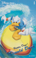 RARE Télécarte NEUVE Japon / MF-1002143 - DISNEY STORE - DONALD DUCK Surfing - Japan MINT Phonecard / 1500 EX - Disney