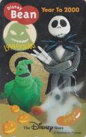 Télécarte NEUVE Japon / 110-208505 - DISNEY STORE - HALLOWEEN ** BEAN - YEAR TO 2000 ** - Japan MINT Phonecard / 300 EX - Disney