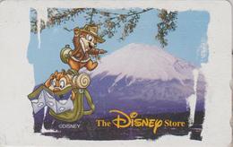 RARE Télécarte Japon / 110-210990 - DISNEY STORE - CHIP & DALE Squirrel - Ecureuil & MT FUJI - Japan Phonecard - Disney