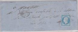 N°14 T I Sur Lettre De Langeais (36),  TAD Type 15, 29/06/1858 - Marcophilie (Lettres)