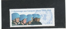 FRANCE 2018 HOMMAGE AUX CASQUES BLEUS NEUF YT 5220 - France