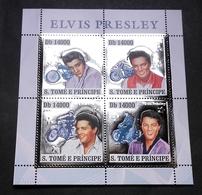 1 Bloc ARGENT Neuf ** MNH - Sao Tomé 2006 - Elvis Presley Motos Harley Davidson - Elvis Presley