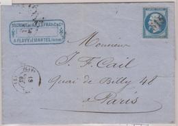N°22 Sur Lettre De Flavy-le-Martel (2), Losange GC 515,  TAD Type 15, 18/10/1863 - 1849-1876: Klassik