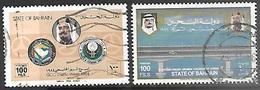 Bahrain   1984-6   Sc#304 & 322  100fils   Used   2016 Scott Value $7 - Bahreïn (1965-...)