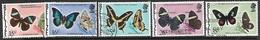 Belize  1974-7   Sc#352a,353-5, 355A   5 Diff  Butterflies   Used      2016 Scott Value $25.55 - Belize (1973-...)
