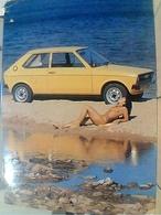AUTO  CAR CARS, AUDI 50, BEAUTIFUL WOMAN ON THE BEACH SENO NUDO SARDEGNA  Timbro EMPOLI Corsinovi Peruzzi N1974  HA7366 - Italia